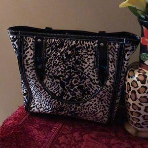 Talbots tote bag in animal print